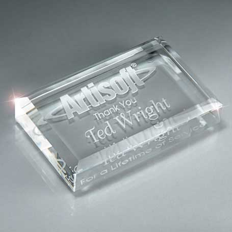 GM448 - Optic Crystal Business Card Paperweight