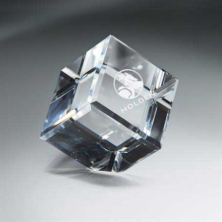 GM453D - Optic Clear Crystal Cube - Xtra Large