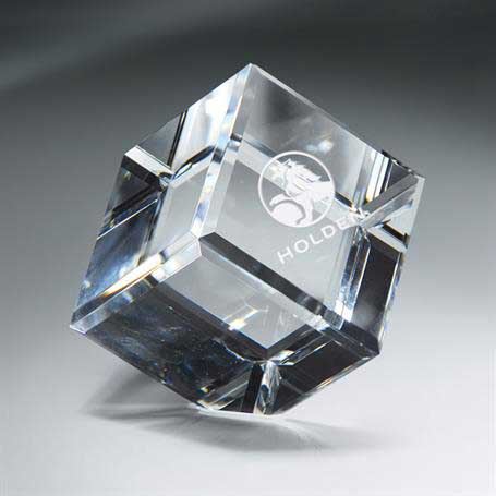 GM453E - Optic Clear Crystal Cube - XXtra Large