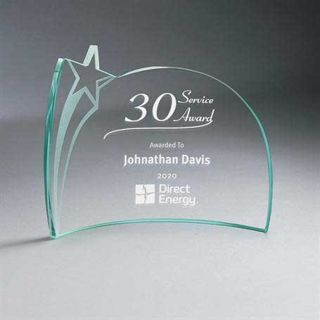 GM668B - Jade Glass Star Crescent