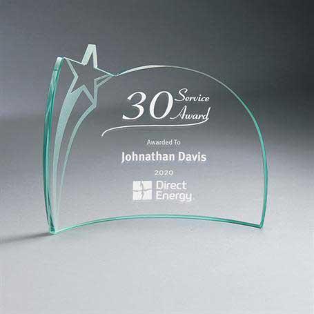 GM668B - Jade Glass Star Crescent