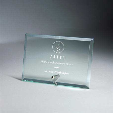 GM669A - Premium Horizontal Jade Glass Tablet with Metal Stand