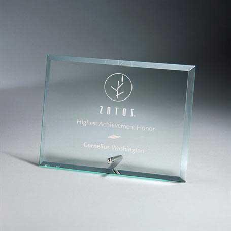 GM669B - Premium Horizontal Jade Glass Tablet with Metal Stand