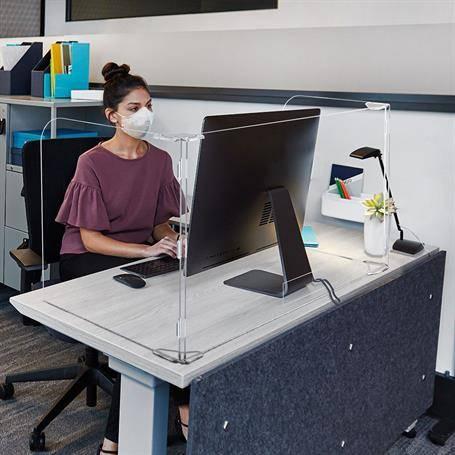 SG2057 - 3 Panel Office Desktop Safety Barrier