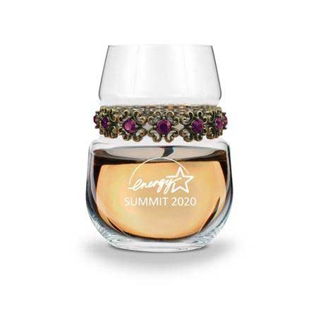 WSAP - Stemless Wine Glass Antique Purple Bracelet