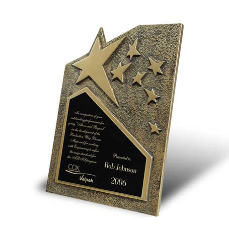C0642* - Star Cast Self-Standing Plaque