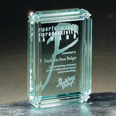 C501 - Jade Diamond Carved Desk Award