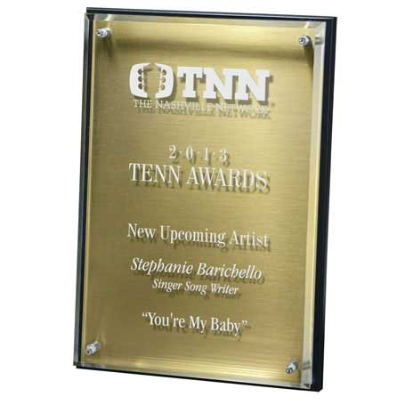 C6801* - Hi-Tech Lucite Riser Plaque with Wood Backing and Plate