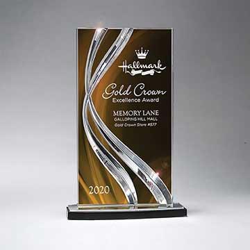 CD1022CGO - Sweeping Ribbon Award - Large