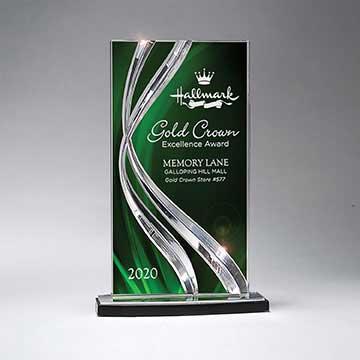 CD1022CGR - Sweeping Ribbon Award - Large