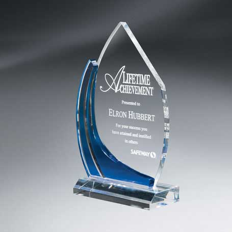 CD22A - Medium Multi-Dimensional Blue Vista Award