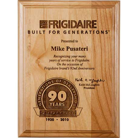 CD83B - Genuine Alder Wood Plaque