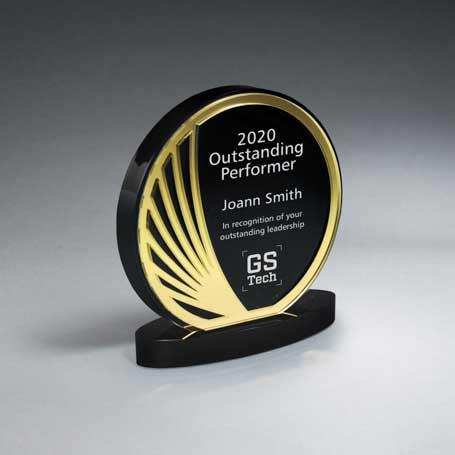 CD928AG - Freeflow Mirror and Ebony Circle Award