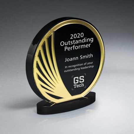 CD928B* - Freeflow Mirror and Ebony Circle Award
