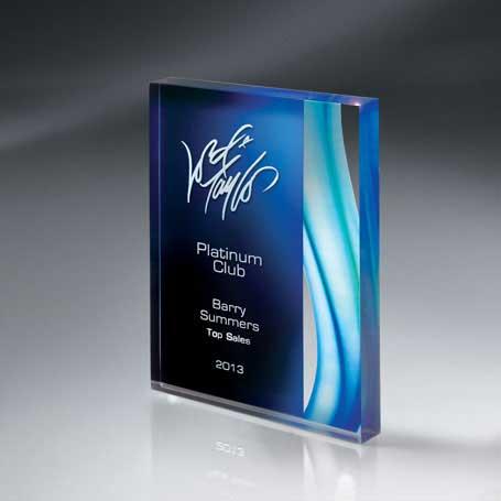 CDUS01B - Aquus Lucite Tablet Award - Large
