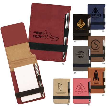 CM244* - Leatherette Notepad and Pen