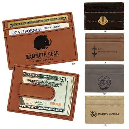 CM246* - Leatherette Money Clip/Card Holder