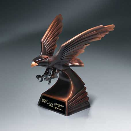 CM260B - Modern Bronze Finish Eagle in Flight - Large