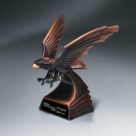 CM260A - Modern Bronze Finish Eagle in Flight - Medium