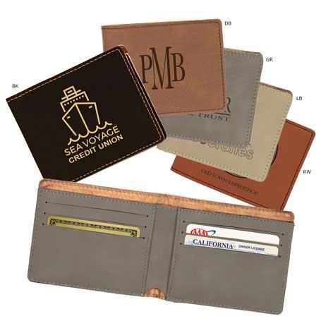 CM292* - Leatherette Slim-Line Wallet