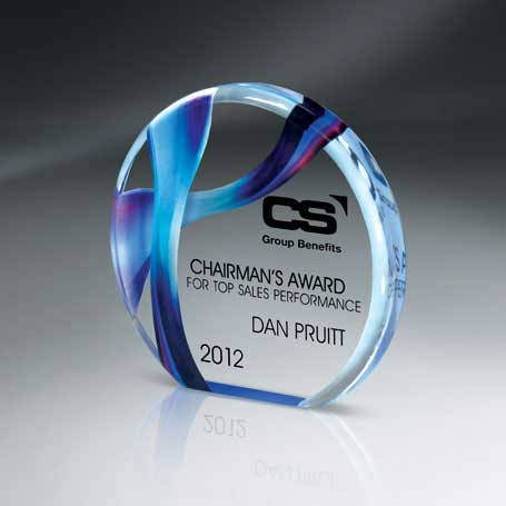 DCCD332C - Large Beveled Circle Award