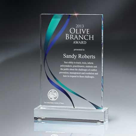 DCCD424* - Medium Digi-Color Lucite Award