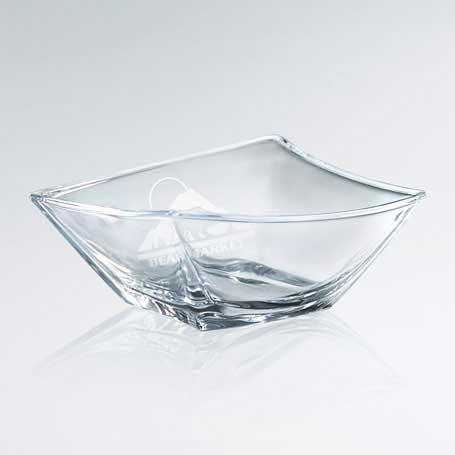 G0823B - Artistic Skewed Glass Bowl - Large