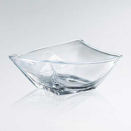 G0823A - Artistic Skewed Glass Bowl - Small