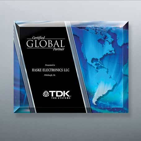 G0969A - Beveled Glass Laser-Through Globe Plaque with Easel