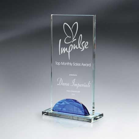 GI513C* - Optic Crystal Gemstone Award - Tall