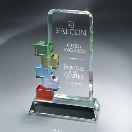 GM401B - Optic Crystal Cornerstone Excellence Award - Medium