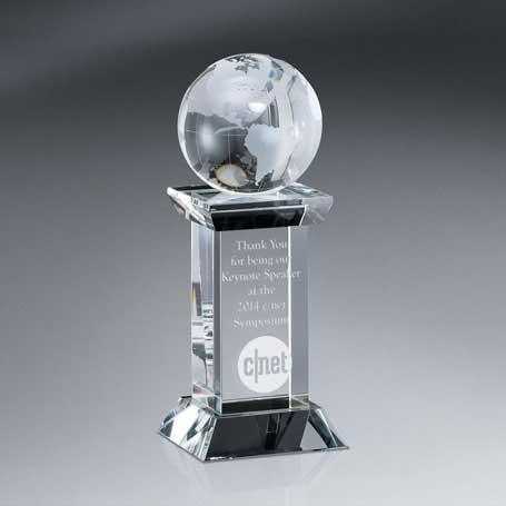 GM457 - Optic Crystal Globe Tower