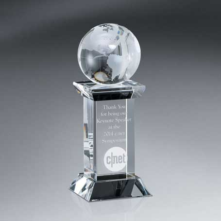 GM457 - Optic Crystal Globe Tower