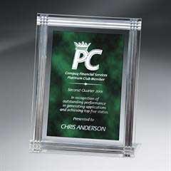 Diamond Carved Rectangle Plaque
