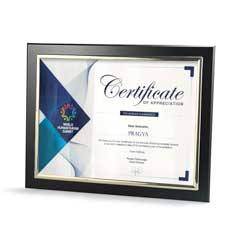 Certificate Frame with Metallized Accent