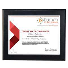Ebony Finish Certificate Frame
