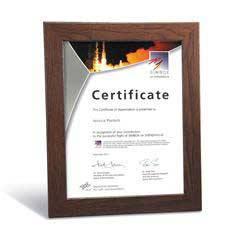 Walnut Finish Certificate Frame