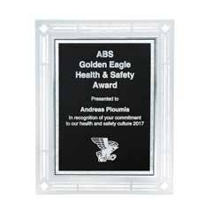 Frosted Acrylic Plaque with Black Florentine Plate