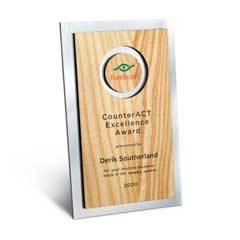 Circle Cutout Wood and Silver Backer Digi-Color Plaque