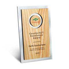 Circle Cutout Wood and Silver Backer Digi-Color Plaque