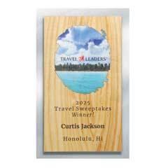 Wood and Silver Backer Digi-Color Plaque