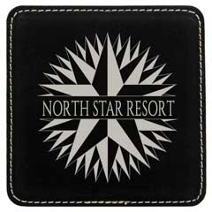 Leatherette Square Coaster