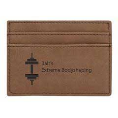 Leatherette Money Clip/Card Holder
