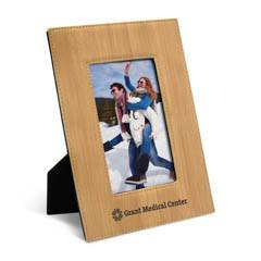 Leatherette 4 x 6 Photo Frame, Bamboo
