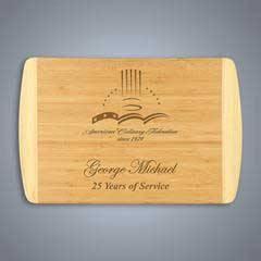 2-Tone Bamboo Cutting Board - Large
