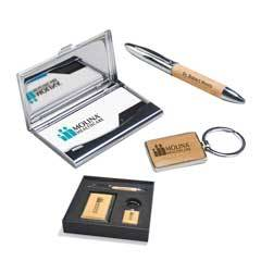 Maple Gift Set - Pen - Keychain - & Business Card Holder