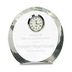 Beveled Edge Clear Crystal Clock
