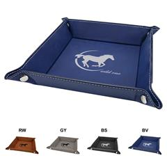 Leatherette Snap Tray