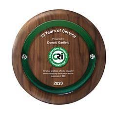 Round Walnut Plaque with Raised Panel - Lrg