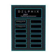 Turquoise and Stone Background Lucite 12-Plt Plaque with Easy Perpetual Plate Release Program